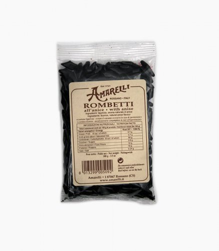 LIQUIRIZIA AMARELLI - rombetti all'Anice - 10 sacchetti da 100 gr cad.
